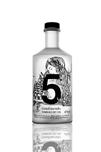 5 Continents Gin   1 x 0,7l   BIO   Feingeisterei   22 Botanicals aus...