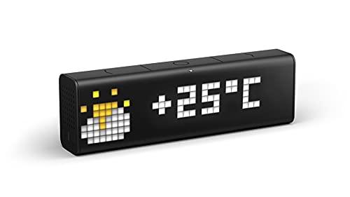 LaMetric Time WLAN Tischuhr Schwarz Alarmzeiten 1