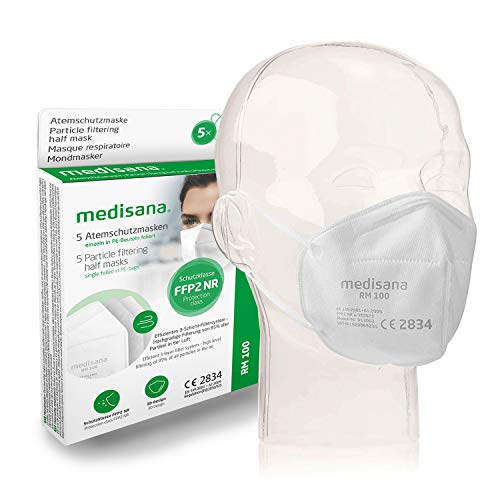 Medisana FFP2/KN95 5x Atemschutzmasken Staubmaske...
