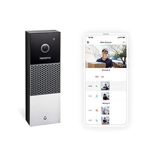 Netatmo Smarte Videotürklingel mit Kamera, WLAN,...