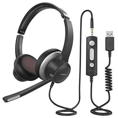Mpow PC Headset mit Mikrofon HC6, 3,5mm PC...