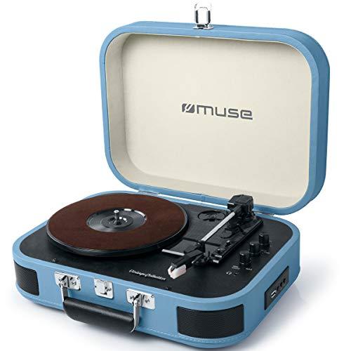 Muse MT-201 Retro Plattenspieler mit Bluetooth,...
