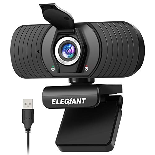 ELEGIANT Webcam Webkamera 1080P HD PC Webcam mit...