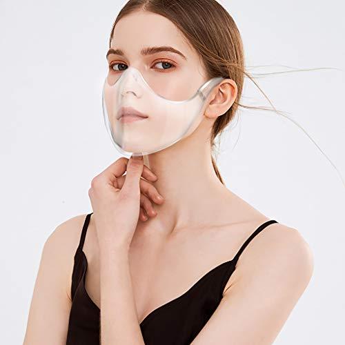 Ucoolcc Transparente Offene Gesichtsschutz, Half...