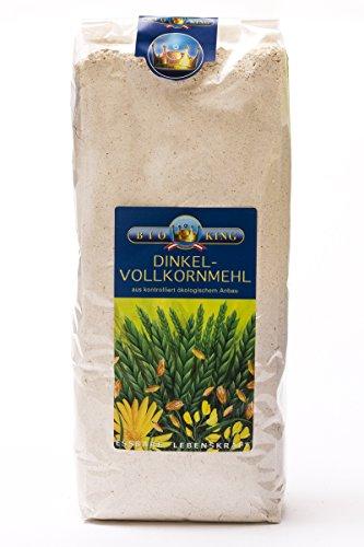 BioKing 4 x 1kg Bio DINKEL-VOLLKORNMEHL (EUR 3,99...