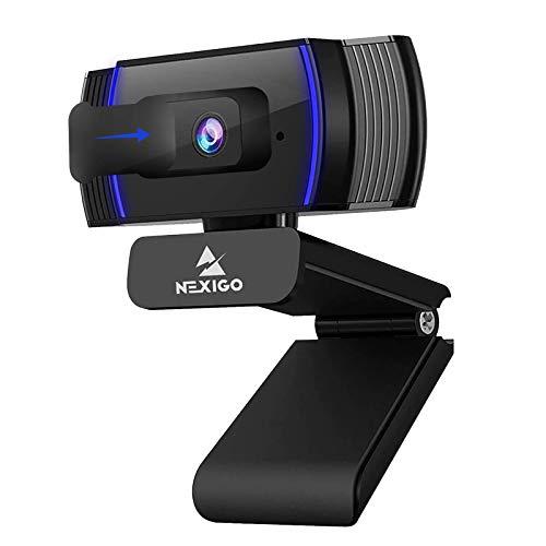 NexiGo Autofokus 1080P HD Webcam mit Stereo Mikrofon and Abdeckung,...