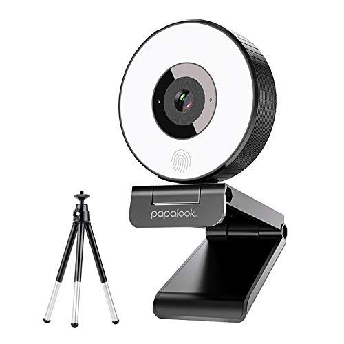 Streaming-Webcam, Papalook PA552 Festem Fokus...
