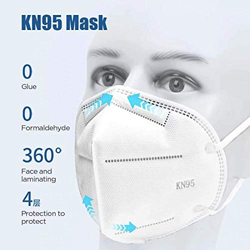 Tomashi KN95/FFP2 Schutzmasken mit 4 Schichten...