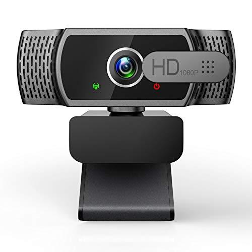 EYONMÉ Webcam mit Mikrofon,1080P Kamera mit...