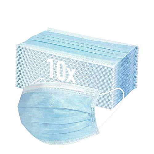 Mund und Nasenschutz 10x Masken Mundschutz Einweg...
