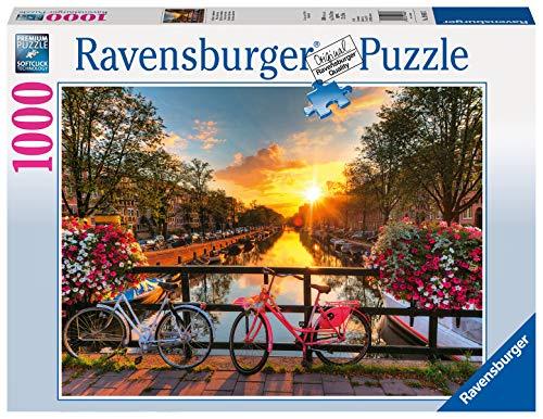 Ravensburger Puzzle 19606 - Fahrräder in Amsterdam - 1000 Teile...