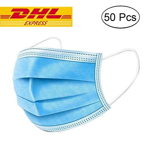 50 Stücke Weich Disposable Mundschutz Maske...
