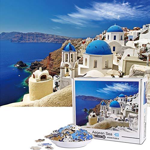 Vimzone Puzzle 1000 Teile- Santorini, 1000 Stück...