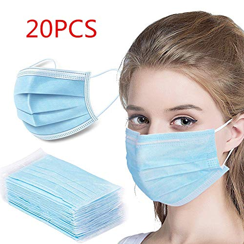 20 Stück Einweg Maske Gesichtsmaske Vlies...