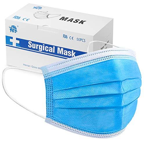 50 Stück Mundschutzmasken 3-lagig Mundschutz...