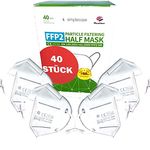 Simplecase FFP2 Maske, 40x Atemschutzmaske,...