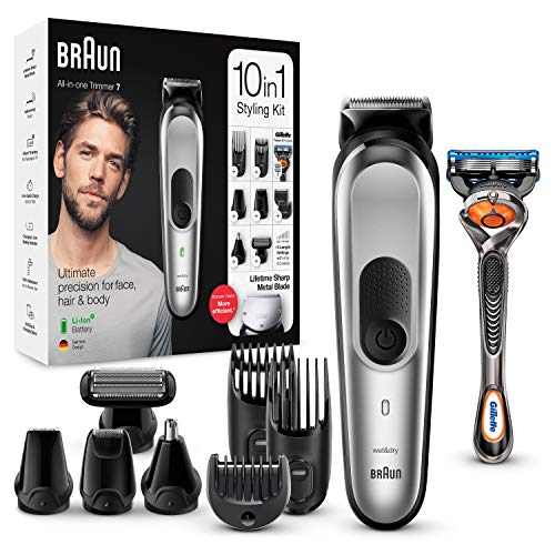 Braun 10-in-1-Trimmer MGK7220 Herren-Barttrimmer,...