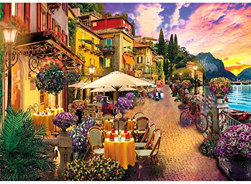 HUADADA Puzzle 1000 Teile Italien Comer See Kleinstadt,Farbenfrohes...