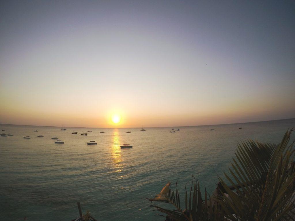 Sonnenuntergang auf der Sansibar-Reise
