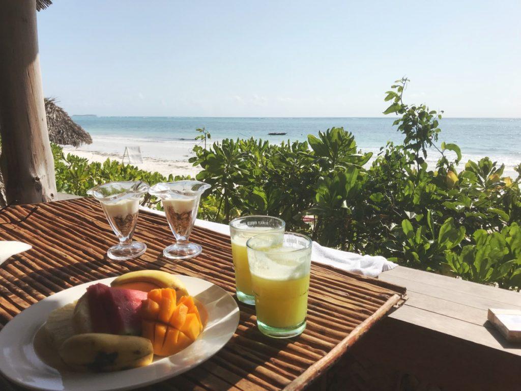 Zanzibar Bandas Frühstück im Urlaub