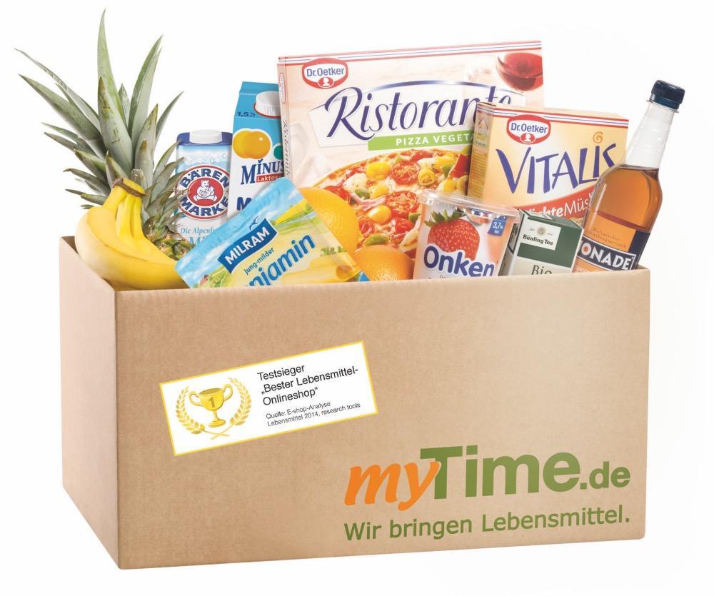myTime Paket Lieferservice Lebensmittel