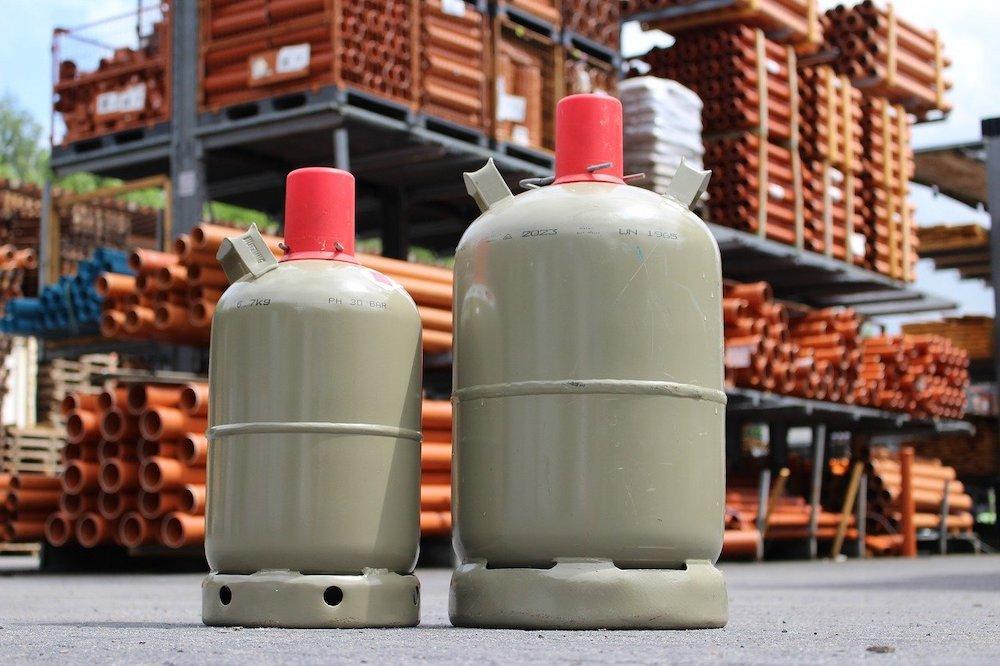 Gasflasche für Heizstrahler kaufen