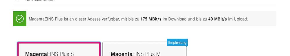 Telekom Magenta Eins Plus verfügbar